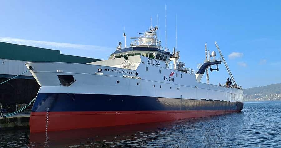 JOSMAR® entrega el parque de pesca para el Montelourido, moderno arrastrero congelador de la firma Kalamar, Ltd. del Grupo Rampesca.