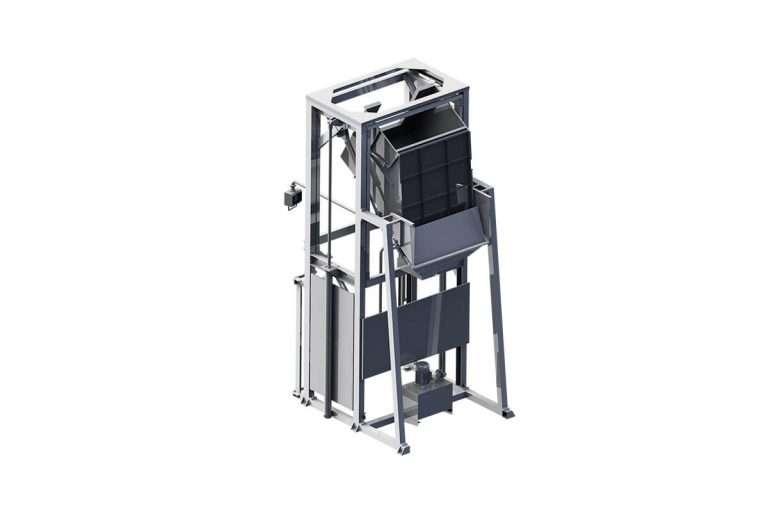 Elevador volteador de contenedores