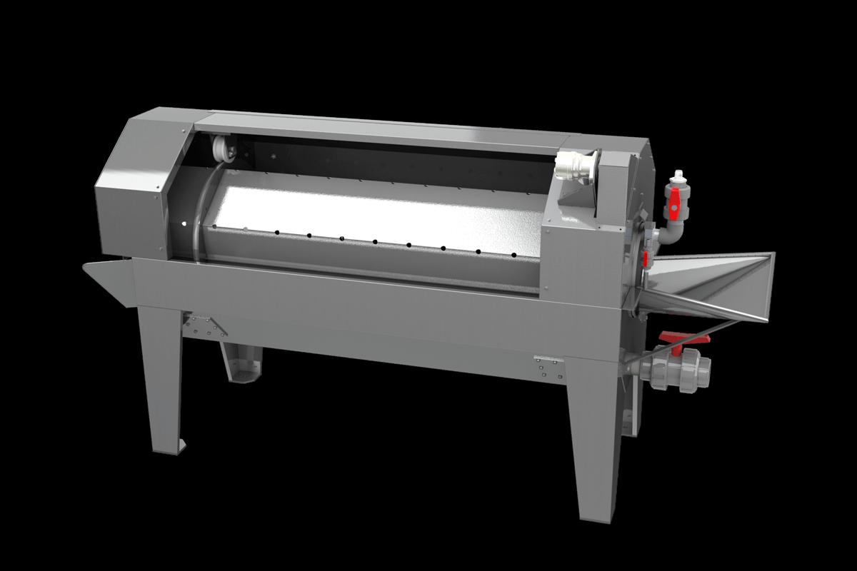 jm-026-lavadora de pescado de tambor rotativo